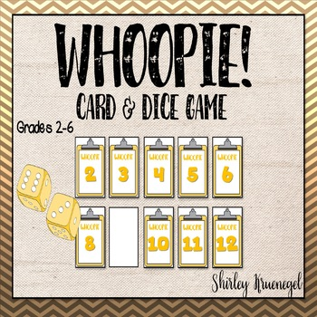 WHOOPIE! Card and Dice Game