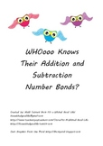 WHOooo Knows Their Addition and Subtraction Number Bonds to 20