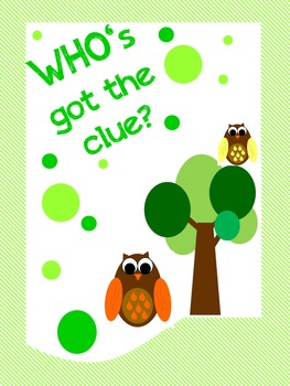 WHO's got the clue? math activity