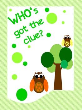 WHO's got the clue? math activity