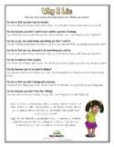 WHY I LIE (Behavior Modification)