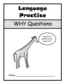 WHY QUESTIONS Assessment Booklet- Speech Therapy, Autism, Language