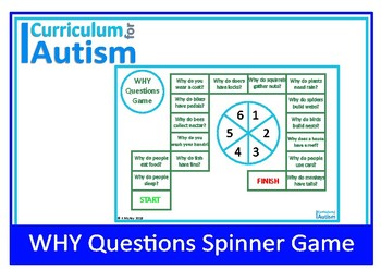 WHY Questions Game Autism Special Education