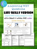 WHY questions Life Skills Story Special Ed 15 Reading Passages autism 4 levels