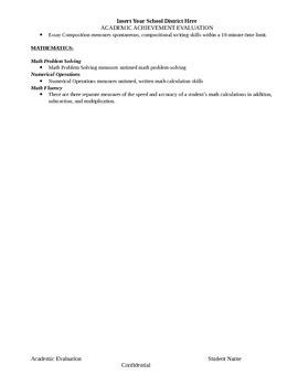 WIAT-III Evaluation Template
