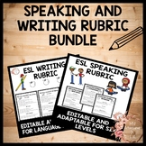 ESL Speaking & ESL Writing Rubric Bundle - WIDA Aligned