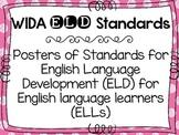 WIDA ELD Standards for English language learners FREEBIE