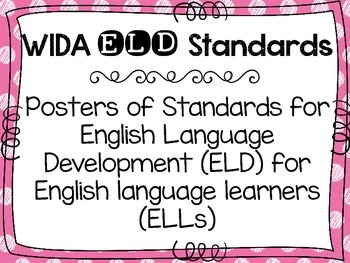 Eld Standards Posters & Worksheets | Teachers Pay Teachers