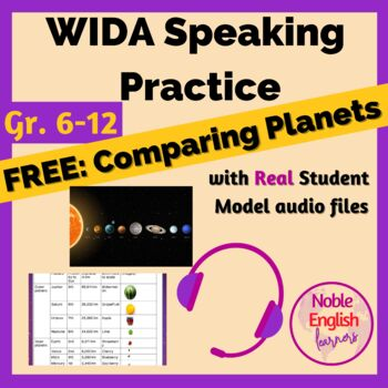 Free Speaking Practice 2.0 or Secondary English Learners: Comparing Planets