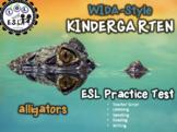 WIDA practice for KINDERGARTEN: Alligators