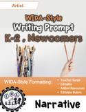 WIDA-style EDITABLE writing prompt: Artist K-2