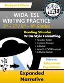 WIDA-style EDITABLE writing prompts: Aliens Attack