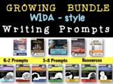 WIDA-style editable WRITING PROMPT: growing BUNDLE