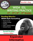 WIDA-style writing practice: Gorilla  Compare/Contrast