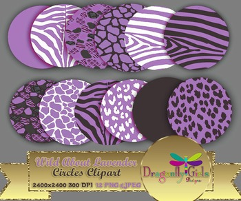WILD About Lavender Circles commercial use,vector graphics,digital clip art