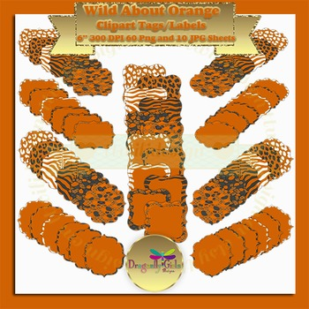 WILD About Burnt Orange commercial use, vector graphics, digital clip art