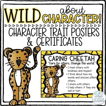 WILD About Character Zoo Animal Trait Posters & Award Certificates