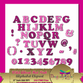 WILD About Hot Pink Alphabet commercial use,vector graphic