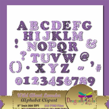 WILD About Lavender Alphabet commercial use,vector graphic