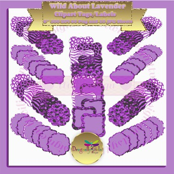 WILD About Lavender clipart commercial use, vector graphic