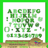 WILD About Lime Green Alphabet commercial use,vector graphics,digital clip art