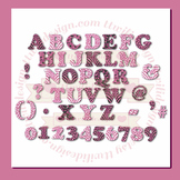 WILD About Pink Alphabet commercial use,vector graphics,digital clip art