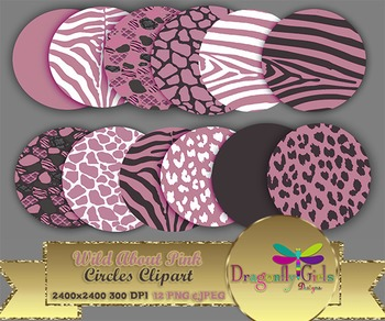 WILD About Pink Circles commercial use,vector graphics,dig