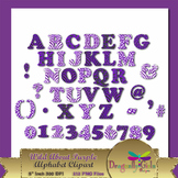 WILD About Purple Alphabet commercial use,vector graphics,digital clip art