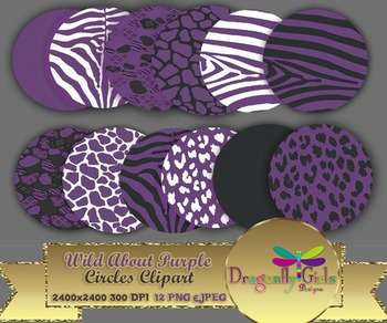 WILD About Purple Circles commercial use,vector graphics,digital clip art