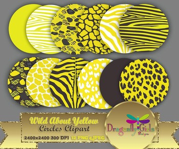 WILD About Yellow Circles commercial use,vector graphics,digital clip art