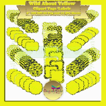 WILD About Yellow clipart commercial use, vector graphics, digital clip art