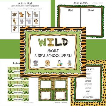 WILD About a New School Year!  A back to school rainforest/jungle/safari theme!