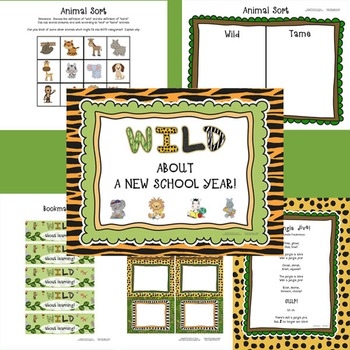 WILD About a New School Year!  A back to school rainforest/jungle/safari theme!