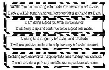 WILD Behavior Clip Chart