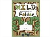 W.I.L.D. Folder Cover sheet Jungle Safari Rainforest theme