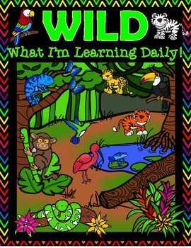 WILD Student Organization Rainforest Theme Binder Cover