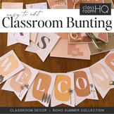 BOHO SUMMER Classroom Bunting Pack