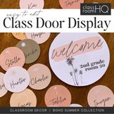 BOHO SUMMER Classroom Door + Banner Display