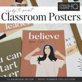 BOHO SUMMER Inspirational Growth Mindset Classroom Posters