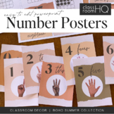 BOHO SUMMER Editable Number Posters