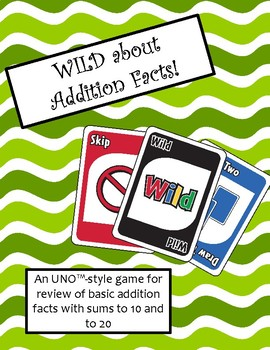 WILD about Addition Facts Game