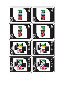WILD about Customary Units Card Game
