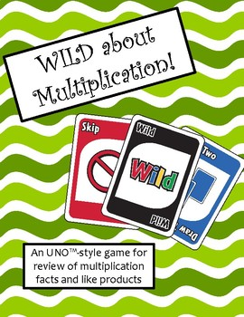 WILD about Multiplication Game