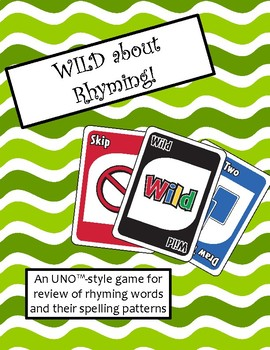 WILD about Rhyming Game