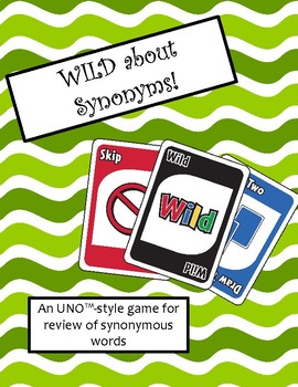 WILD about Synonyms Game