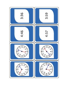 WILD about Telling Time (to the Minute) Game