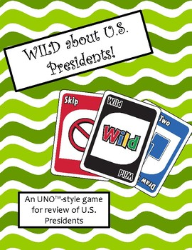 WILD about US Presidents Game