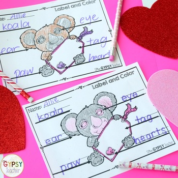 WILD about Valentine's Day Label and Color