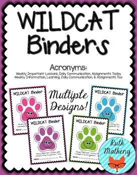 WILDCAT Binder {Student Organization Folder}