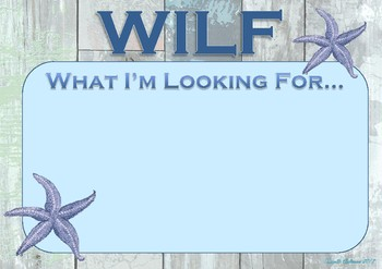 WILF Poster Rustic Beach Theme